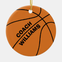 Basketball Coach Ceramic Ornament