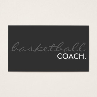 basketball coach. (color customizable) business card