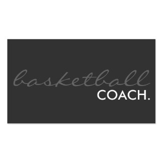 basketball coach. (color customizable) Double-Sided standard business cards (Pack of 100)