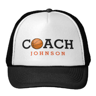 Basketball Coach Custom Name Trucker Hat