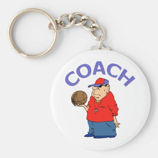 Basketball Coach Design Keychain