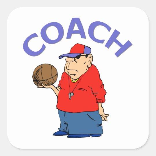 Basketball Coach Design Square Sticker