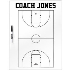 Basketball Coach Dry Erase Board at Zazzle