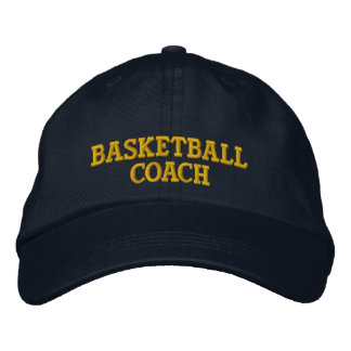 Basketball coach embroidered cap