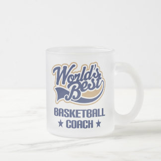 Basketball Coach Gift (Worlds Best) 10 Oz Frosted Glass Coffee Mug