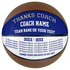 Basketball Coach Gifts, Personalized Basketball at Zazzle
