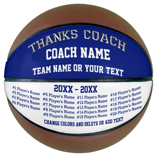 Basketball Coach Gifts, Personalized Basketball
