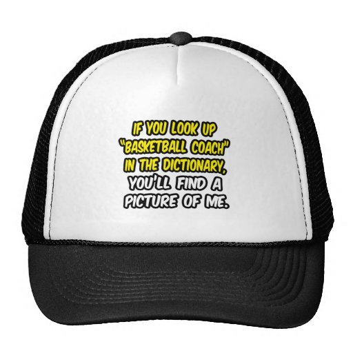 Basketball Coach In Dictionary...My Picture Mesh Hat