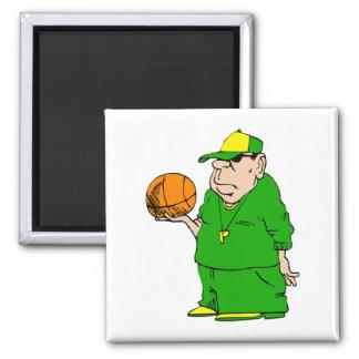 Basketball coach refrigerator magnet