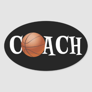 Basketball Coach Oval Sticker