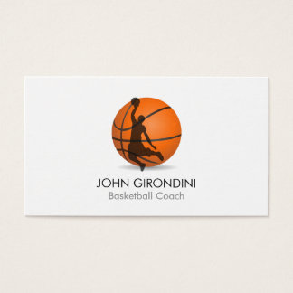 Basketball Coach Personal Trainer Modern Trendy Business Card