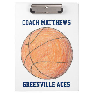 Basketball Coach Personalized Clipboard