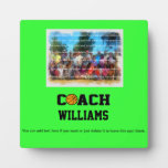 Basketball Coach - Personalized Photo Plaques