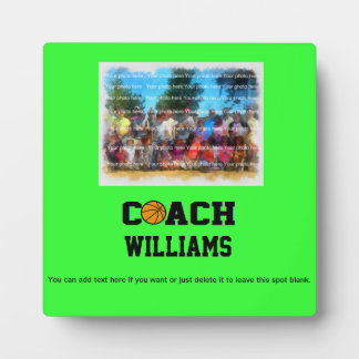 Basketball Coach - Personalized Plaque