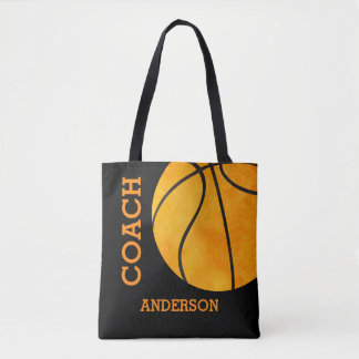 Basketball Coach Personalized Sports Vintage Retro Tote Bag