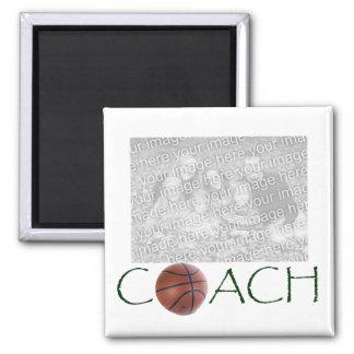 BASKETBALL Coach Photo magnet. Magnet