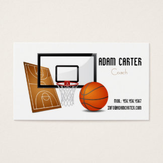 Basketball Court Business Cards Templates Zazzle