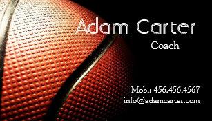Basketball Coach Business Cards Zazzle