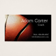 Basketball Coach Player Referee Club Sport School Business Card at Zazzle