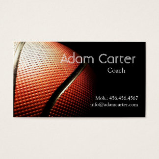 Basketball coach player referee Club Sport School Business Card