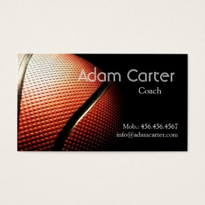 Basketball Business Cards Zazzle Com