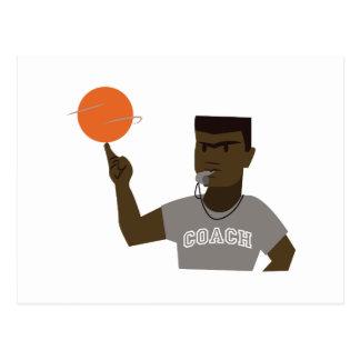 Basketball Coach Postcard