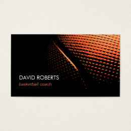 Basketball Coach Professional Sport Theme Business Card