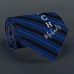 """Basketball Coach Signature Name Navy Striped Neck Tie<br><div class=""""desc"""">A navy striped tie tailored to the Basketball coach who loves the sport. It features the word coach on the bottom half of the tie and a spot for yours or your gift recipient's signature name underneath it.</div>"""