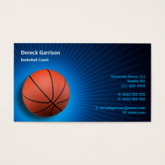 Basketball Coach | Sport Business Card at Zazzle