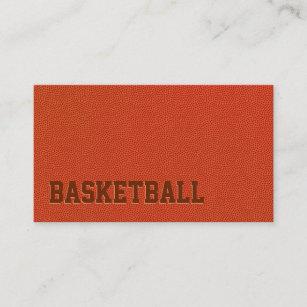 Basketball business cards templates zazzle basketball coach sport trainer minimalist business card colourmoves