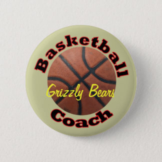 Basketball Coach Team Pinback Button