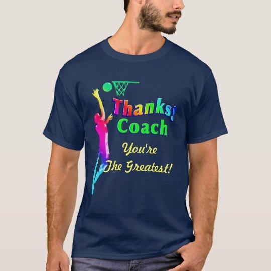 Basketball Coach Thank You Hoop Shirt