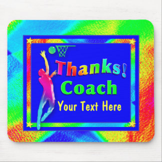 Basketball Coach Thank You Mousepad