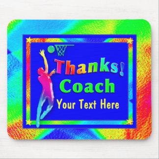 Basketball Coach Thank You Mousepad