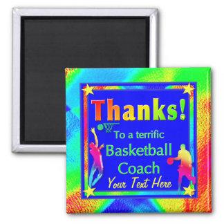 Basketball Coach Thank You Star Magnet