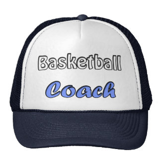Basketball coach trucker hat