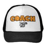 Basketball Coach whistle, orange Trucker Hat