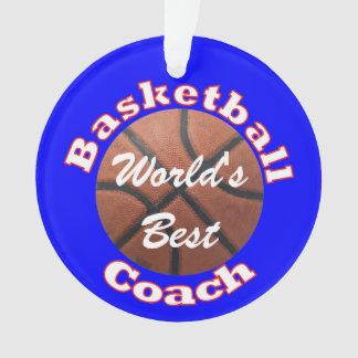 Basketball Coach Worlds Best Ornament