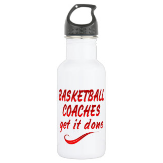 Basketball Coaches Get it Done Water Bottle