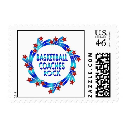 Basketball Coaches Rock Red Stars Postage Stamps