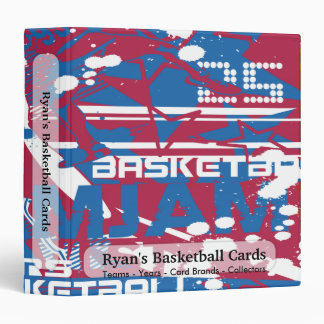 Basketball Collage Card Collectors Book Binder