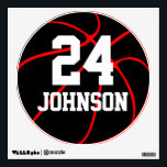 """Basketball Color, Name &amp; Number Locker Room Decals<br><div class=""""desc"""">The Basketball Team Color, Name &amp; Jersey Number Locker Room Decals: Design a customized basketball decal for every player on the team with their own jersey number and name, plus your team color! Just type the player&#39;s name and number in the custom text box. To change the background color, currently...</div>"""