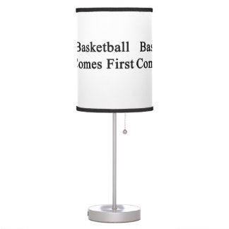 Basketball Comes First Desk Lamps