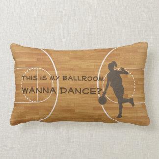Basketball Court Ballroom Dance Girl Pillow