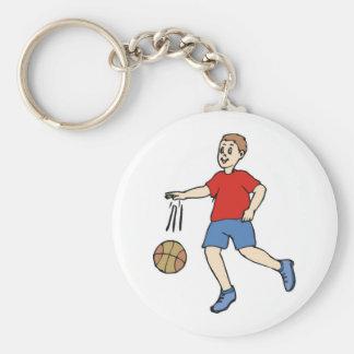 Basketball Court Basic Round Button Keychain