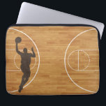 """Basketball Court Boy Laptop Sleeve<br><div class=""""desc"""">•Sizes for 10 inch,  13-14 inch,  and 15 inch laptops •Form fitting case; fits most slim laptops •Lightweight and water resistant neoprene •Top loading zippered enclosure •Laptop not included</div>"""