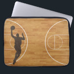 "Basketball Court Boy Laptop Sleeve<br><div class=""desc"">•Sizes for 10 inch,  13-14 inch,  and 15 inch laptops •Form fitting case; fits most slim laptops •Lightweight and water resistant neoprene •Top loading zippered enclosure •Laptop not included</div>"