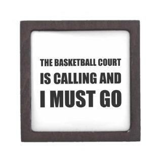 Basketball Court Calling Must Go Keepsake Box