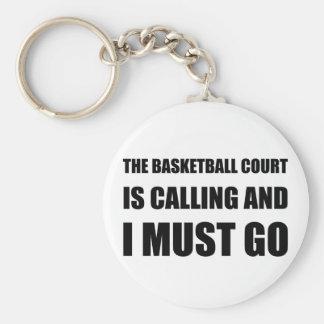 Basketball Court Calling Must Go Keychain