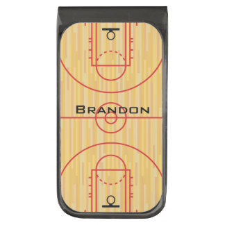 Basketball Court Design Money Clip